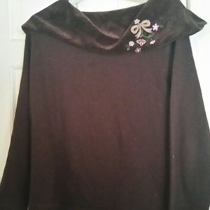 Ericka Brown Embroidered Top Size Medium